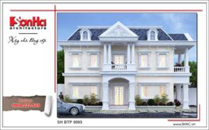 Thiết kế kiến trúc biệt thự cổ điển Pháp đẹp tại Sài Gòn sh btp 0093 2