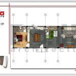 Mặt bằng công năng tầng 1 nhà phố cổ điển 3 tầng tại Hải Phòng sh nop 0130