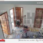 4 Ảnh thực tế thi công trọng gói biệt thự hiện đại 2 tầng đẹp tại hải phòng sh btd 0051