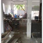 5 Ảnh thực tế thi công biệt thự hiện đại đẹp tại hải phòng sh btd 0051