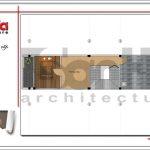 Mặt bằng tầng 4 nhà phố hiện đại 4 tầng tại Hà Nội SH NOD 0164