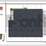 Mặt bằng mái biệt thự hiện đại 2 tầng sang trọng tại Hải Phòng SH BTD 0051