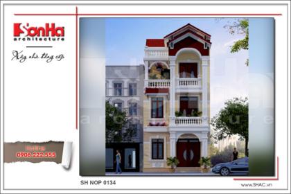 BÌA Mẫu nhà phố 3 tầng kiến trúc Pháp tại Hà Nam SH NOP 0134