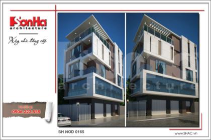 BÌA Thiết kế kiến trúc nhà phố hiện đại 5 tầng tại Hải Phòng SH NOD 0164