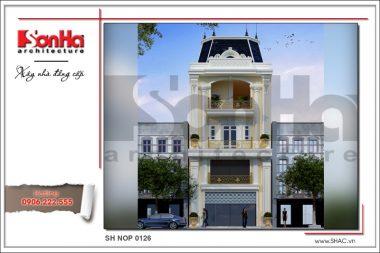 BÌA Thiết kế nhà ống kiến trúc Pháp đẹp tại Hà Nội sh nop 0126