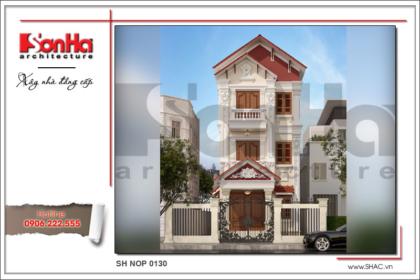 BÌA Mẫu thiết kế nhà phố cổ điiển 3 tầng tại Hải Phòng sh nop 0130