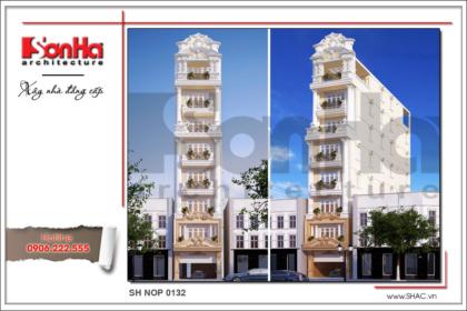 BÌA Mẫu nhà phố cổ điển Pháp 8 tầng tại Sài Gòn SH NOP 0132