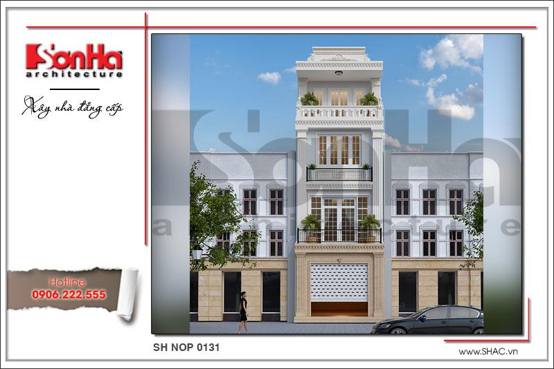 BÌA Thiết kế nhà phố 4 tầng tân cổ điển tại Hải Phòng SH NOP 0131