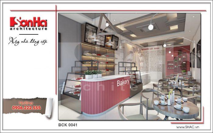 Thiết kế nội thất tiệm bánh đẹp tại Quảng Ninh sh bck 0041