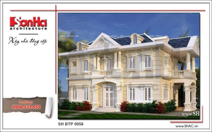 Phương án thiết kế biệt thự 2 tầng cổ điển kiểu Pháp hạ gục mọi ánh nhìn chủ đầu tư Hà Nam