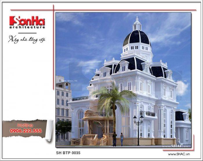 Mẫu biệt thự cổ điển kiểu Pháp 3 tầng đẹp xa hoa và tráng lệ dù ở bất cứ góc view nào