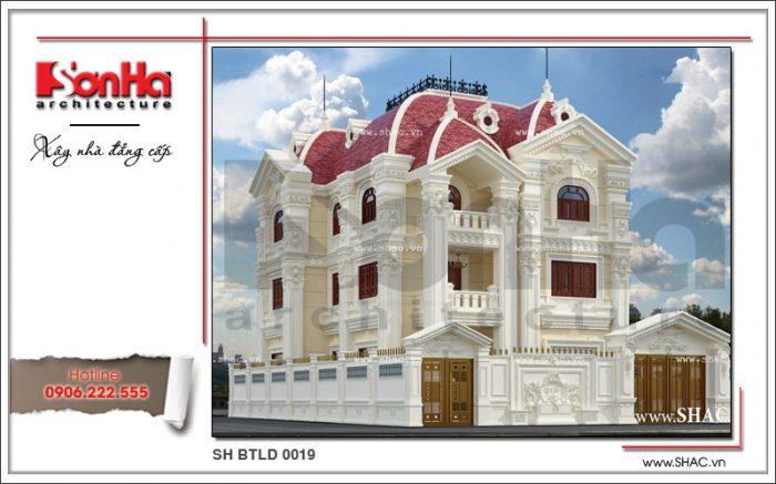 Thêm phương án thiết kế biệt thự lâu đài 3 tầng cổ điển kiểu Pháp đẳng cấp nữa của SHAC