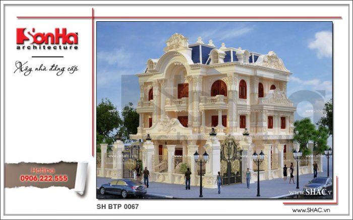 Mẫu biệt thự 3 tầng kiểu Pháp cổ điển và đẳng cấp chinh phục mọi ánh nhìn người qua đường