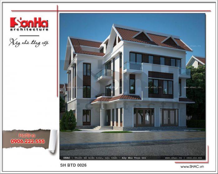 Phương án thiết kế biệt thự 4 tầng kiểu hiện đại được đánh giá cao kiến trúc, bố trí công năng