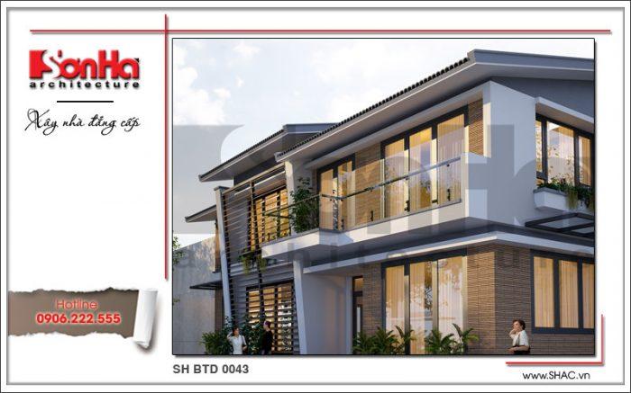 Phương án thiết kế biệt thự 2 tầng hiện đại và sang trọng điển hình 2017 được yêu thích tại Lào Cai