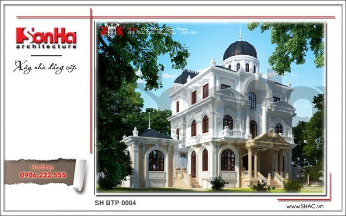 Mẫu thiết kế biệt thự kiểu Pháp 3 tầng kiến trúc cổ điển sang trọng tại Hà Nội