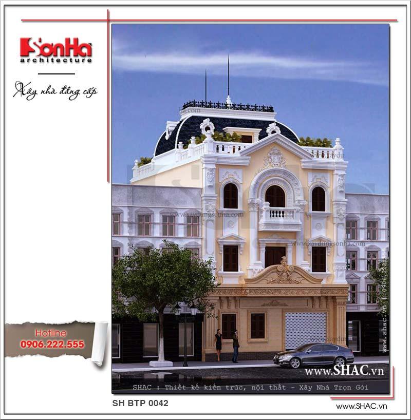 Biệt thự kiến trúc Pháp 3 tầng với thiết kế ngoại thất sang trọng chinh phục mọi ánh nhìn