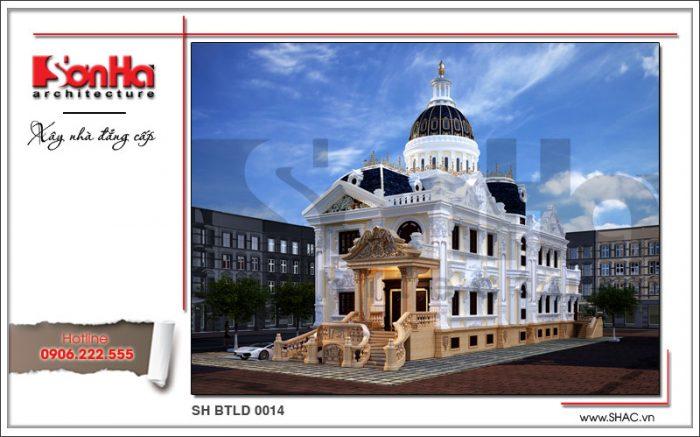 Công trình xây dựng thiết kế và thi công biệt thự lâu đài tại Bình Phước bởi SHAC
