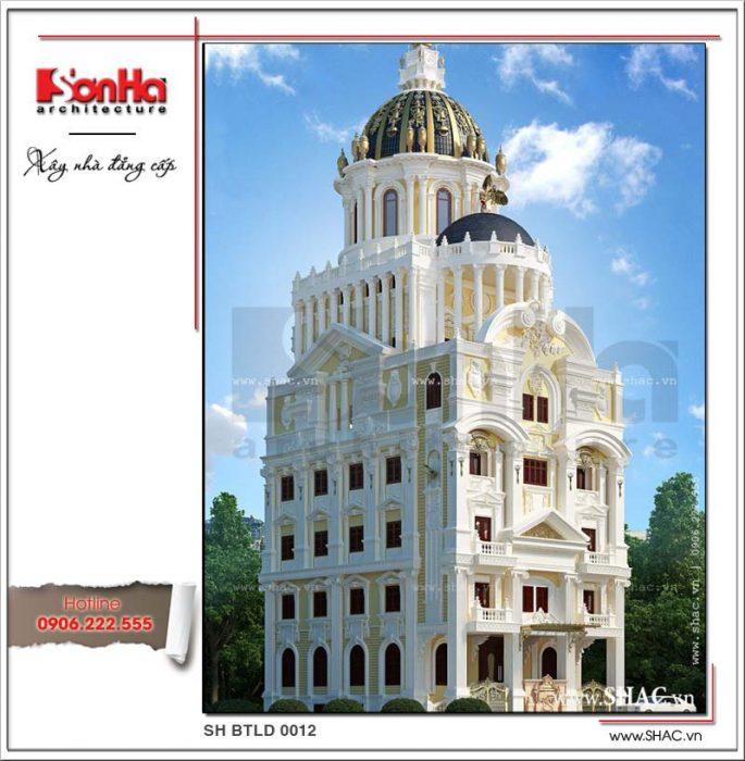 Mẫu thiết kế biệt thự lâu đài kiểu Pháp đẹp