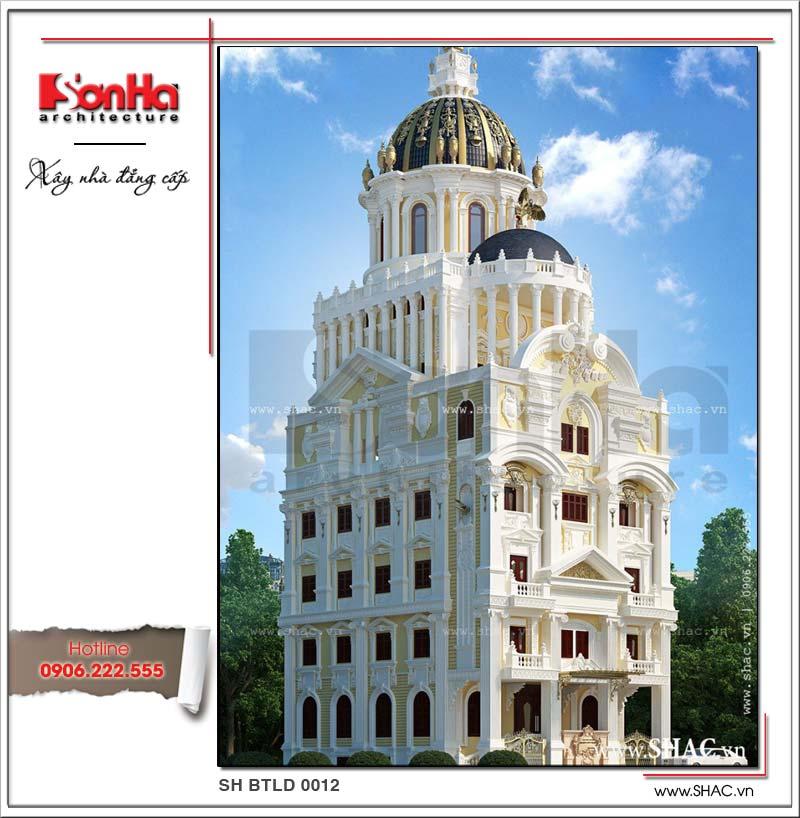Phương án thiết kế biệt thự lâu đài 6 tầng Pháp cổ dát vàng đã gây bão dư luận khắp toàn quốc