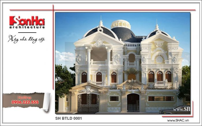 Mẫu biệt thự lâu đài cổ điển 3 tầng thiết kế đẹp đã làm nên bản sắc thương hiệu SHAC uy tín