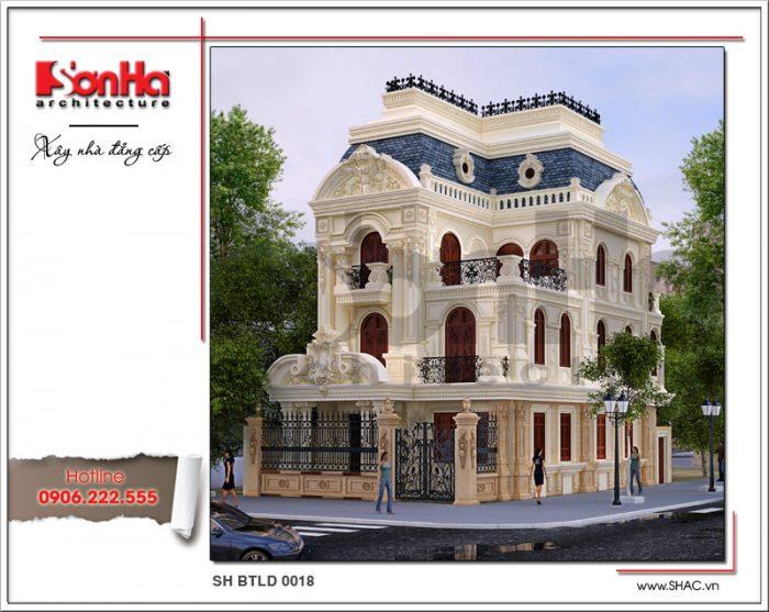 Biệt thự pháp 3 tầng kiến trúc cổ điển sh btld 0018 2