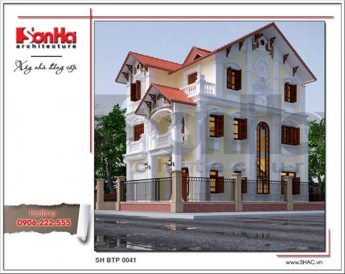 Mẫu thiết kế biệt thự 3 tầng kiến trúc Pháp mãn nhãn tại Quảng Ninh