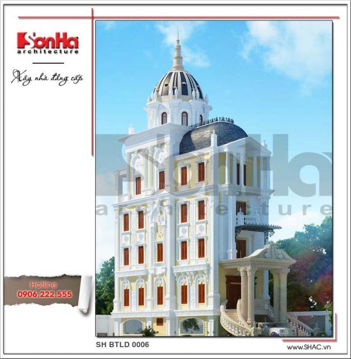 Kiến trúc biệt thự lâu đài kiểu Pháp - btld 0006 2