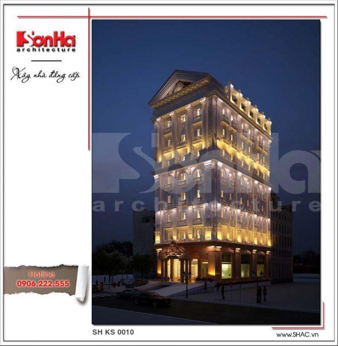 Kiến trúc khách sạn 8 tầng 4 sao đẹp - ks 0010 2