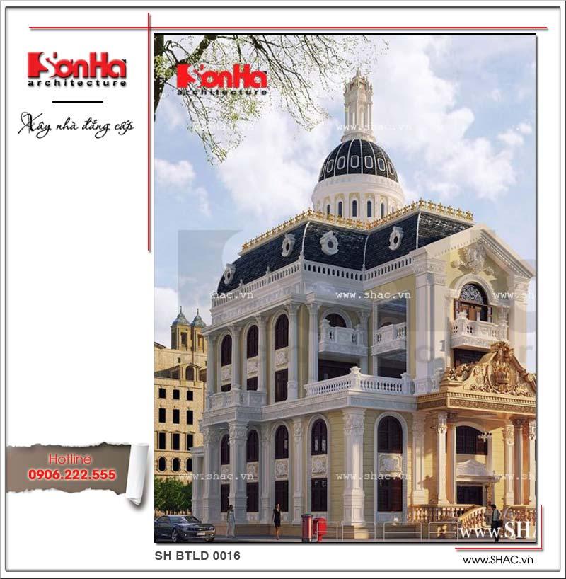 Phương án thiết kế được đánh giá cao của ngôi biệt thự 5 tầng phong cách lâu đài cổ điển đẳng cấp