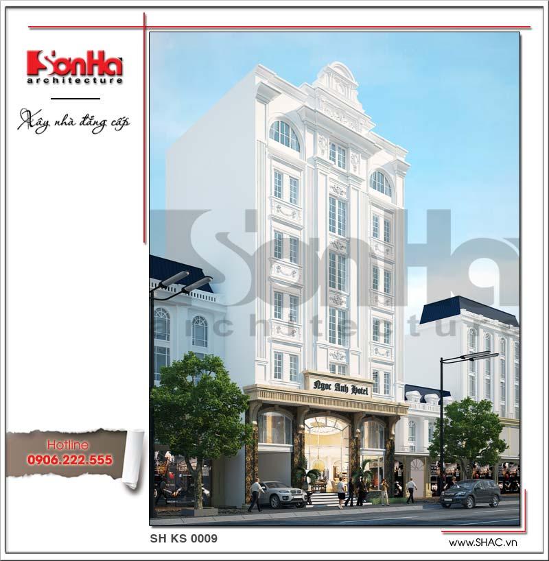 Mẫu thiết kế khách sạn kiểu Pháp cổ điển 3 sao đẹp tại Sài Gòn hạ gục mọi ánh nhìn bất kỳ