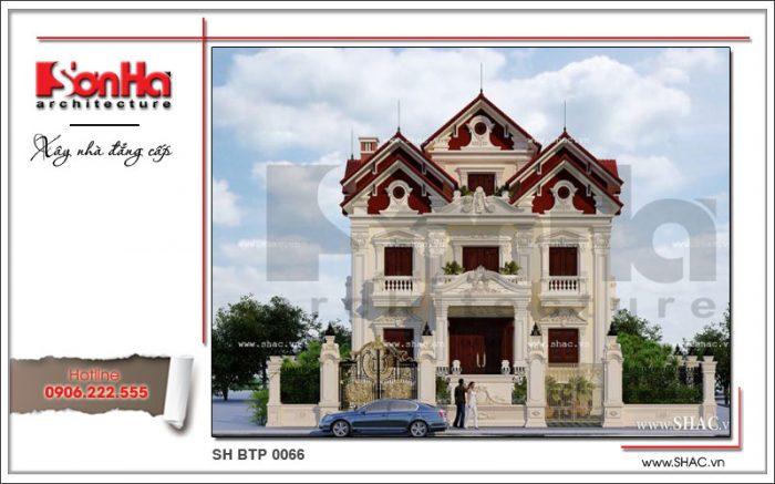 Mẫu biệt thự cổ điển Pháp 3 tầng thiết kế đẹp điển hình biệt thự mái ngói được tìm kiếm nhất