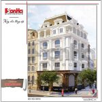 Mẫu khách sạn 5 tầng kiểu Pháp đẹp SH KS 0018 2
