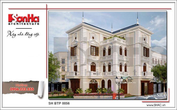 Mẫu thiết kế biệt thự Pháp 4 tầng độc đáo tại Hà Nội điển hình cho xu hướng thiết kế mới nhất