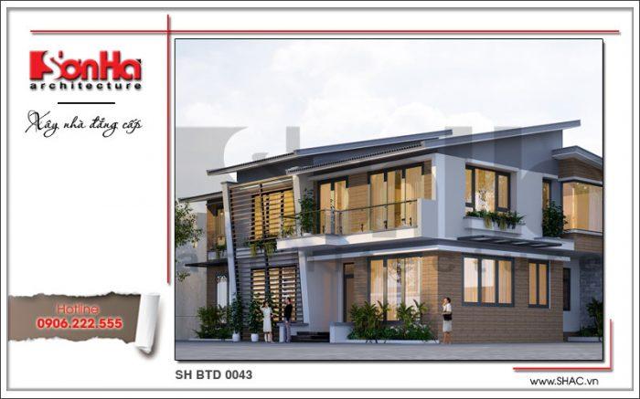 Phương án thiết kế biệt thự 2 tầng kiểu hiện đại sang trọng và đẳng cấp của biệt thự đẹp SHAC