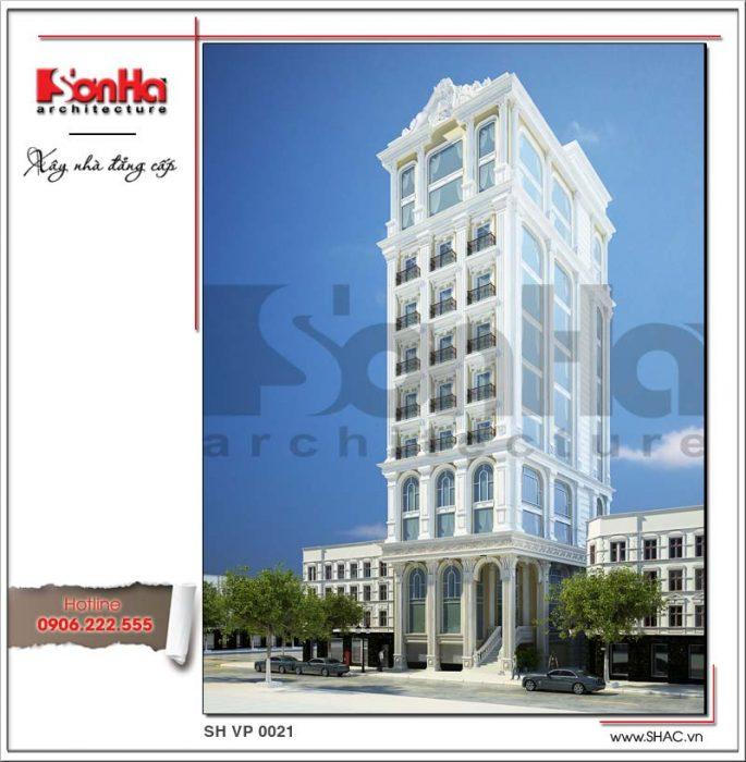 Phương án thiết kế tòa nhà văn phòng sang trọng sh vp 0022 2