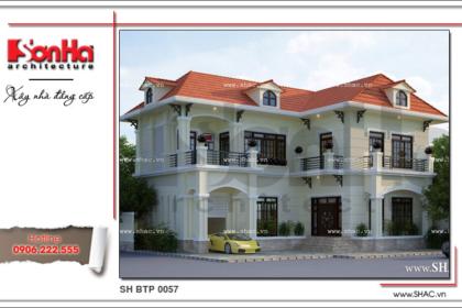 Thiết kế biệt thự 2 tầng nhỏ xinh sh btp 0057 2