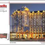 Khách sạn 5 sao ban đêm rực rỡ sh ks 0023 2