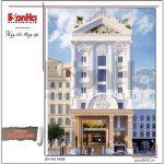 Thiết kế khách sạn kiểu kiến trúc Pháp đẹp - ks 0006 2