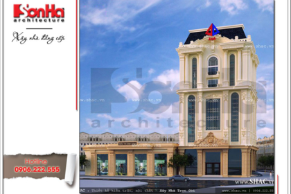 Tòa nhà văn phòng kiến trúc pháp sang trọng sh vp 0016 2