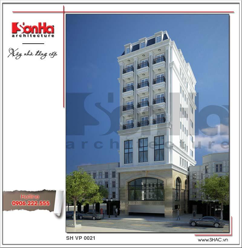 Tòa nhà văn phòng kiến trúc Pháp mặt tiền đẹp SHAC được đánh giá cao từ mọi góc đặt mắt bất kỳ