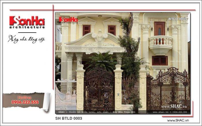 Phương án thiết kế biệt thự cổ điển phong cách lâu đài mang thương hiệu SHAC