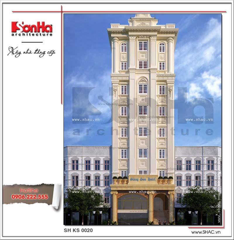 Thiết kế khách sạn đẹp tiêu chuẩn 3 sao với mái vòm đẹp kiểu cổ điển sang trọng cũng nhận được sự đồng tình của đông đảo Khách hàng