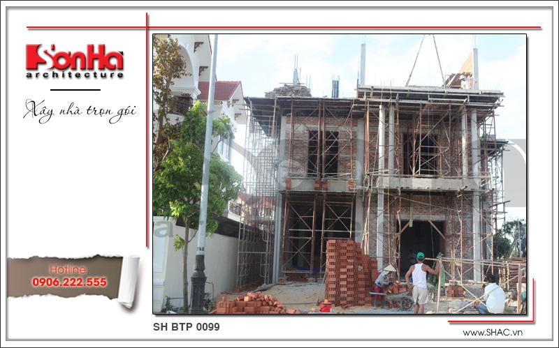 Thiết kế biệt thự 3 tầng tân cổ điển đẹp tại Quảng Bình - SH BTP 0099 21