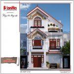 Kiến trúc nhà phố tân cổ điển Pháp 3 tầng tại Hải Phòng sh nop 0137