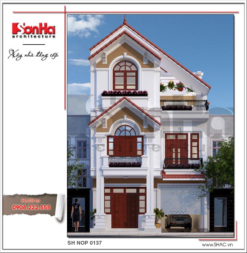 Kiến trúc nhà phố tân cổ điển Pháp 3 tầng tại Hải Phòng - SH NOP 0137 1