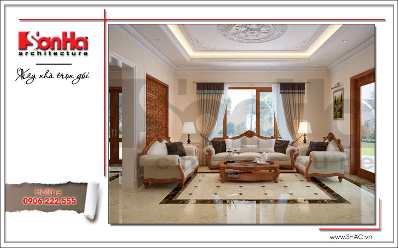 Thiết kế biệt thự 3 tầng tân cổ điển đẹp tại Quảng Bình - SH BTP 0099 4