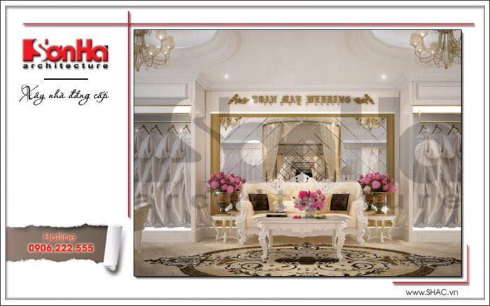 Thiết kế nội thất phòng váy cưới tại Hưng Yên