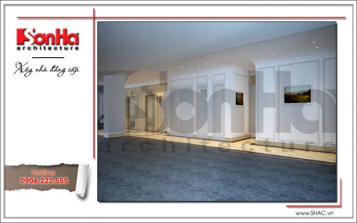 Mẫu nội thất sảnh thang máy khách sạn cổ điển sh ks 0033