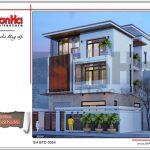 Mẫu thiết kế kiến trúc biệt thự hiện đại tại Quảng Ninh sh btd 0054